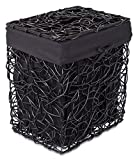 wooden clothes basket - BirdRock Home Decorative Willow Laundry Hamper with Liner | Woven Wooden Laundry Basket | Wicker Reed Frame and Lid | Removable Liner | Dirty Clothes Storage | Black