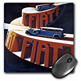 3dRose LLC 8 x 8 x 0.25 Inches Mouse Pad, Vintage Fiat Italian Car Motor Company Advertising Poster (mp_129964_1)