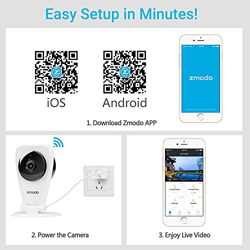 Zmodo 4-Pack EZCam HD Wireless Kid and Pet Monitoring