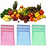 Ketsaal (Pack of 12) Multi-Purpose Vegetables Fruits Mesh Fridge Storage Washable Zip Bags.