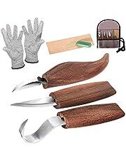 Cuchillo de Talla de Madera, cuchillo de trinchar hecho a mano, Cuchillo de Talla, Conjunto de Herramientas de Talla