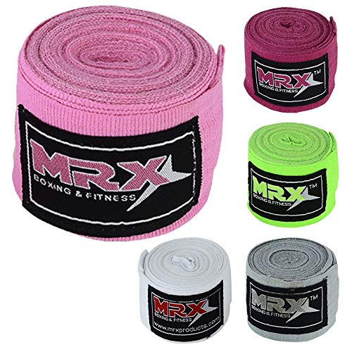 MRX BOXING & FITNESS Boxing Hand Wraps 100% Cotton Multi Colors Great for MMA Boxing Muay Thai Kick Boxing Training 118, 160, 180 Length
