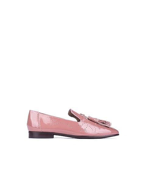 Mocasin Borla Pedro Miralles Charol Nude 39 Rosa: Amazon.es: Zapatos y complementos