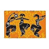 Dance People Mexico Totems Mexican Flute Anti-slip Floor Mat Carpet Bathroom Living Room Kitchen Door 16''x30''Gift