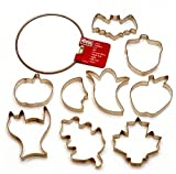 Kaiser Bakeware Patisserie Fall Cookie Cutter Rings, Set of 9 Plus Storage Ring