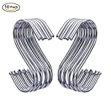 New 10Pcs S Shaped Hooks Kitchen Hanging Hanger Storage Holders Organizer Household Home Essential