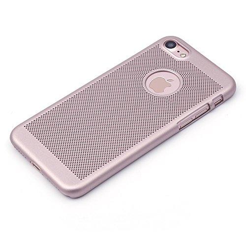 iProtect Apple iPhone 7 Hülle Hard Case Netz-Design in rosegold