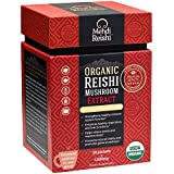 Organic Reishi Mushroom Extract Powder by Mehdi Reishi– 30 Servings, 1,000mg –100% Pure, Natural and Organic Medicinal Powders –Ganoderma Lucidum, Lingzhi Mushroom – High Potency Beta-Glucan 20%+