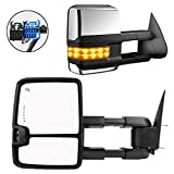 2003 chevy suburban tow mirrors - Towing Mirrors for Chevy Silverado GMC Sierra 2003-2007 Pair Set Power Heated Chrome Amber Led Signal Light Side Mirrors (07 Classic models)