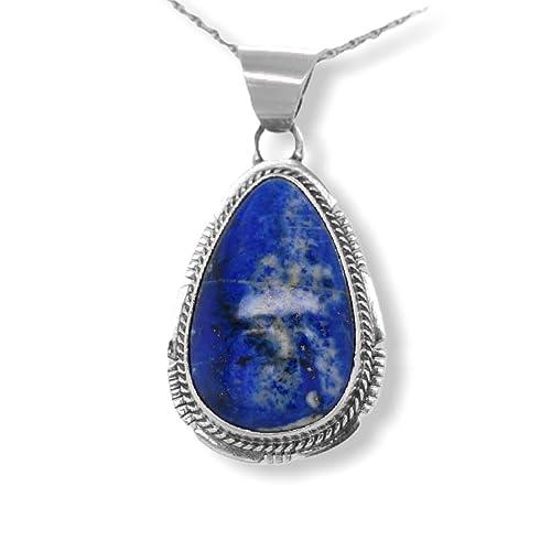 Lapis Lazuli Pendant Set in Fine Silver.