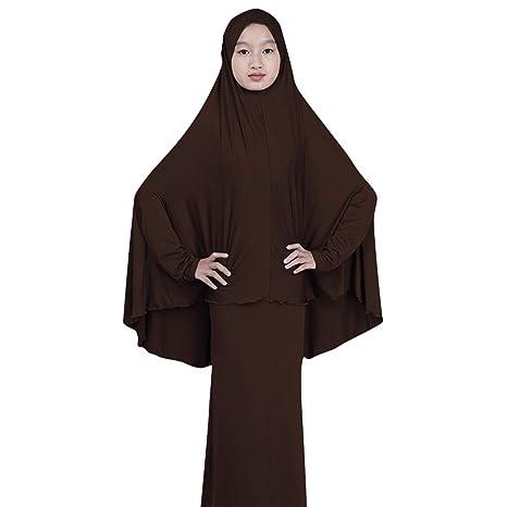 Makefortune 2019 Damen Muslimische Kleider, Frauen Langarm Kleid Elegant Stickerei Knöchellang Kleid Tunika Abaya Dubai Kleid