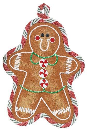 UPC 723886249423, Gingerbread Man shape Pot Holder Holiday Treats Kitchen Decor Kay Dee Designs