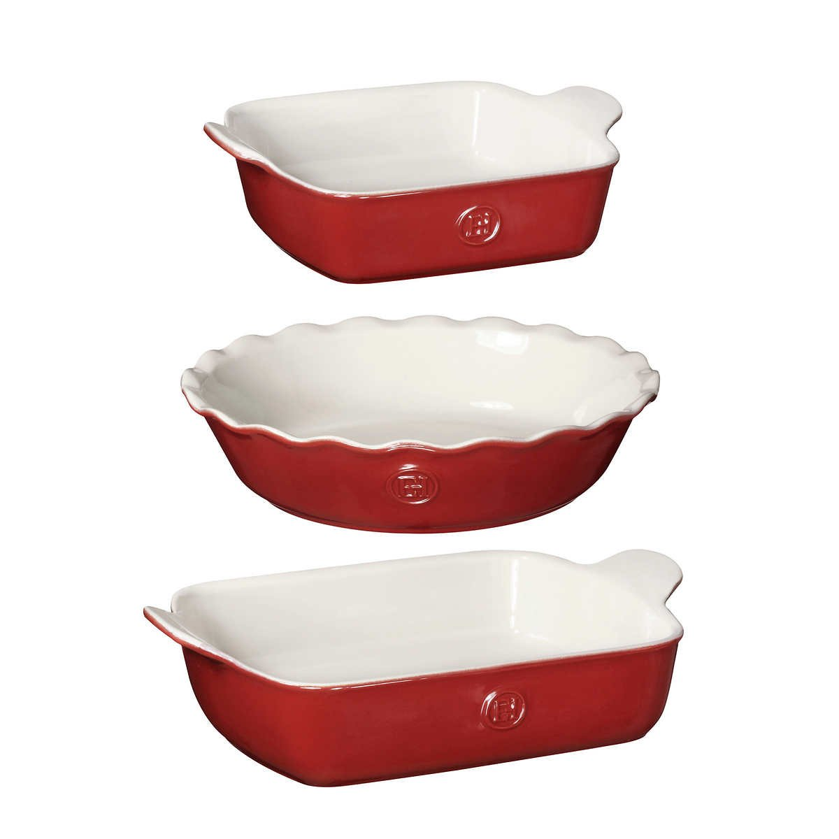 Emile Henry 3-piece Everyday Set (Red)