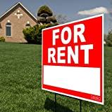 Large 24'' x 18'' - Home For Rent - Yard Sign / Lawn Signage + Ground Stake