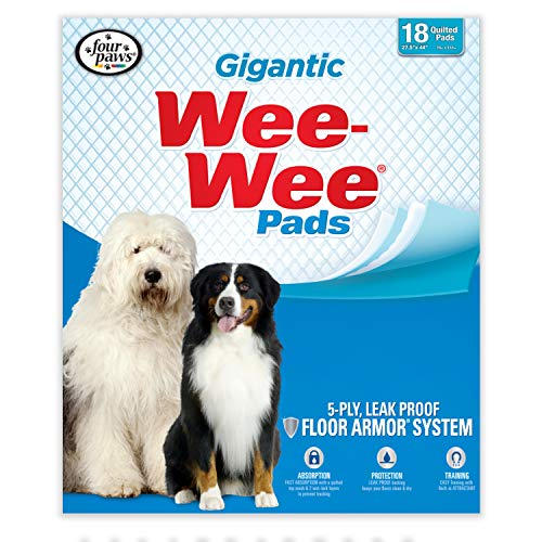 Wee Wee Dog Pee Pads Extra Large | 18 Count | Puppy Training Pee Pads for Dogs | Gigantic Size