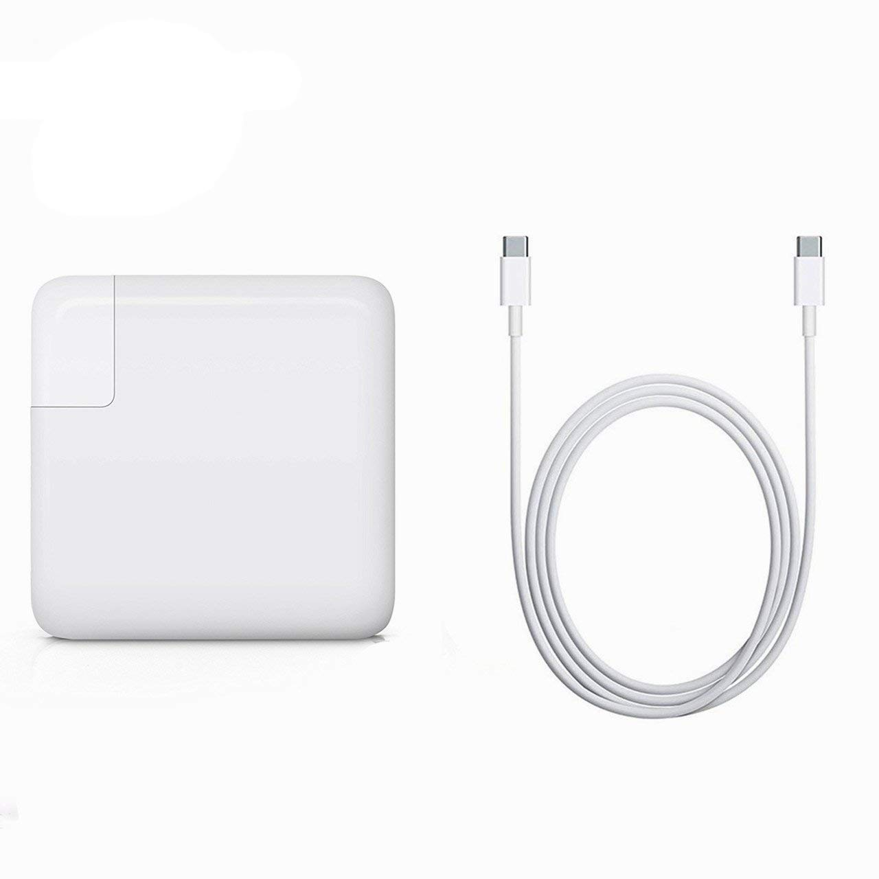 BOLWEO 61W USB-C Power Adapter, Replacement Charger Compatible with MacBook Pro 13 inch 2016 MacBook 12 inch 2015 with 2M USB-C to USB-C Charge Cable