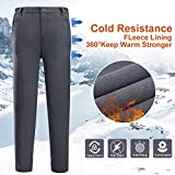 CAMEL CROWN Women Snow Pants Warm Winter Waterproof Windproof Outdoor Hiking Softshell Pants for Traveler Work Gray