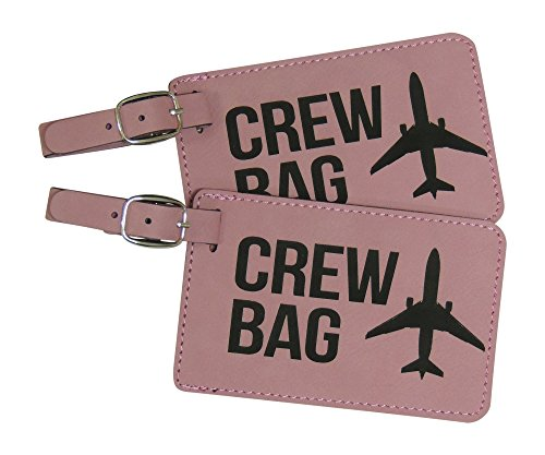 (Crew Bag Tag, Set of Two with Graphic (Pink))