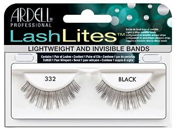 68b32fad3a1 Amazon.com : Ardell Lashlites False Eyelashes - #332 Black (Pack of 4) :  Fake Eyelashes And Adhesives : Beauty