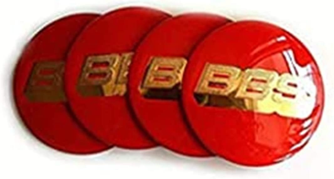 Since Wheel center cover BBS red//gold logo 4 units Conjunto 70mm