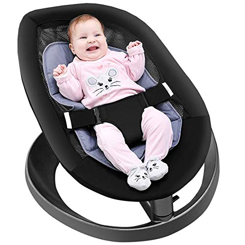 HQYXGS Baby Rocking Chair, No Smell, Quick Assembly, Three-Point Seat Belt, Suitable for Newborns, Young Children, Children from 0 to 3 Years Old, Maximum Load 18Kg