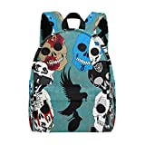 MAPOLO Hollywood Undead Sugar Skulls Lightweight Travel School Backpack for Women Girls Teens Kids