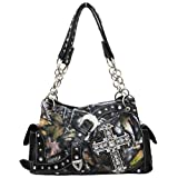 BLACK CAMO WESTERN BUCKLE and CROSS PURSE, Bags Central
