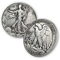 1916-1947 (Various) Walking Liberty Half Dollar 90% Silver Coin 50c Circulated