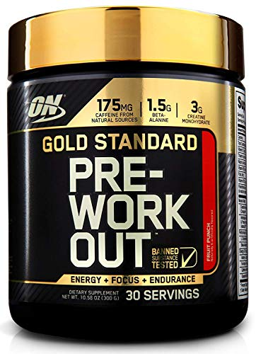 Optimum Nutrition Creatine Powder - OPTIMUM NUTRITION Gold Standard Pre-Workout with Creatine, Beta-Alanine, and Caffeine for Energy, Keto Friendly, Fruit Punch, 30 Servings