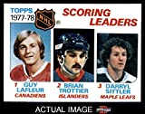 1978 Topps # 65 League Leaders Guy Lafleur / Brian Trottier / Darryl Sittler Canadiens / Islanders / Maple Leafs (Hockey Card) Dean's Cards 8 - NM/MT Canadiens / Islanders / Maple Leafs