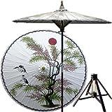 Asian Splendor Patio Umbrella with Wooden Base