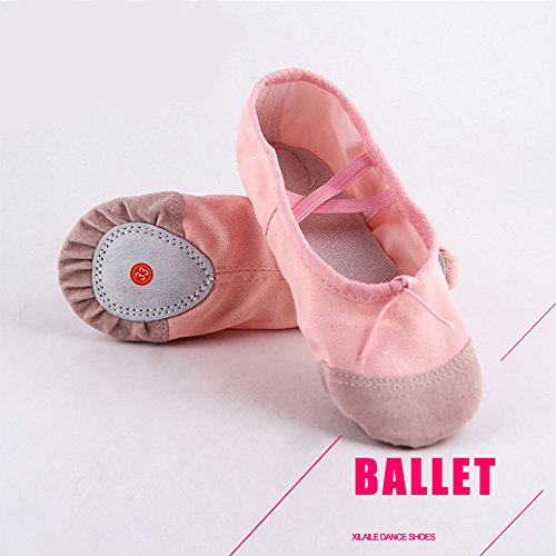 elegantstunning Breathable Girls Black Dance Soft Pointe Yoga Shoes Flats Slippers Dancing Kids Women Children Shoes Comfortable 28 Ballet 4Afqn4wg