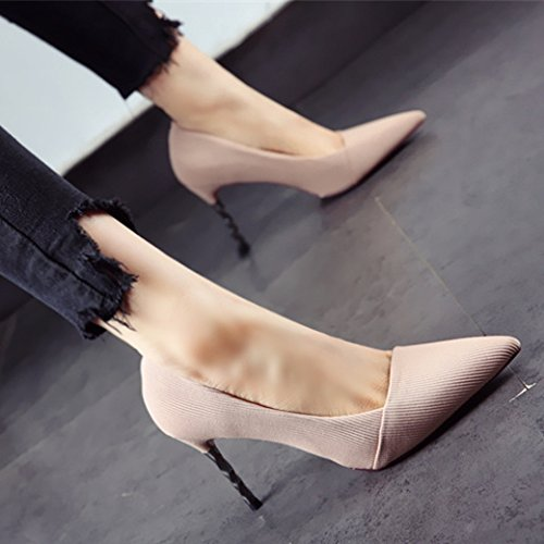 Suede With Pointed Elegant Simple Lady Heels Fine Cm MDRW Leisure 39 Single Mouth Work Fashion Shallow Shoes High Shoes Spring 9 paYCqW
