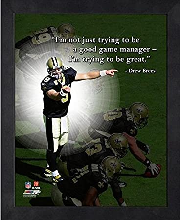 Drew Brees New Orleans Saints Art Wall Indoor Room Outdoor Poster POSTER 24x36