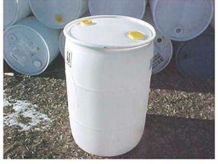 Tambor de 55 galones plástico combustible riego lluvia blanco barriles Tambores Tambor: Amazon.es: Amazon.es
