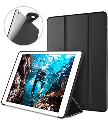 iPad Case for iPad Mini 4, DTTO [Anti-Scratch] Ultra Slim Lightweight [Auto Sleep/Wake] Smart Case Trifold Cover Stand with Flexible Soft TPU Back Cover for iPad mini4, Black by DTTO