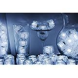 Set of 96 Litecubes Brand 3 Mode White Light up LED Ice Cubes