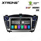 XTRONS HDMI Android 7.1 Quad Core 7 Inch HD Digital Touch Screen Car Stereo Radio DVD Player GPS for Hyundai Tucson IX35 2009-2015