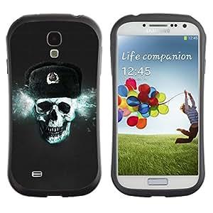"""Hypernova Slim Fit Dual Barniz Protector Caso Case Funda Para SAMSUNG Galaxy S4 IV / i9500 / i9515 / i9505G / SGH-i337 [Cráneo de Rusia CCCP""""]"""