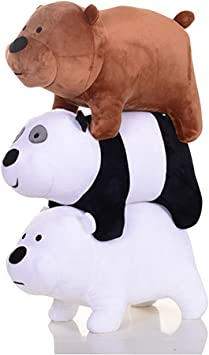 We Bare Bears Ice Bear Panda Plush Toys Stuffed Doll Soft Pillow Kids Cute Gifts
