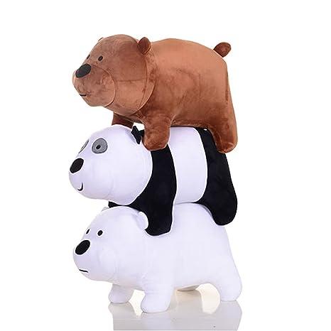 7f4f3b27a37b Amazon.com  3pcs set We Bare Bears Plush Toy Grizzly Panda Ice Bear ...