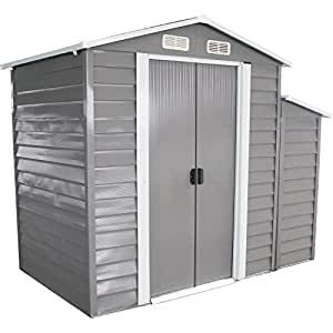 New MTN-G 8' x 5' Outdoor Garden Storage Shed Utility Tool Backyard Patio Lawn Buliding