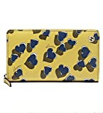 Gucci Heartbeat Print Yellow Leather Zip Around Wallet 309705
