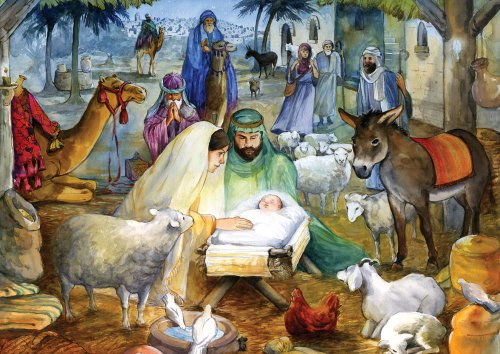 Newborn Child Nativity Advent Calendar (Countdown to Christmas)