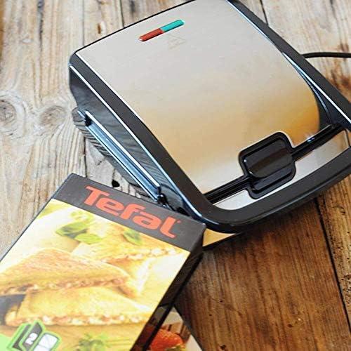 Machines à gaufres et couque 4 Dans 1 Gaufrier Grille-pain Sandwich Maker non-Stick amovible Plaques et rouge indicateur LED verte, contrôle automatique de la température Gaufrier