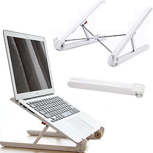 Laptop Stand Adjustable Ventilated Cord (Portable Laptop Stand, Foldable Adjustable Notebook Holder, Eye-Level Ergonomic Lightweight Compact PC Macbook Computer for Business Travel)