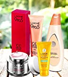 Lakmé 9 To 5 Complexion Care Face Cream Beige 30G, Lakmé Peach Milk Moisturizer Spf 24, Lakmé Absolute Perfect Radiance Skin Lighting Sunscreen With Lakmé Sun Expert Face Wash Combo Pack