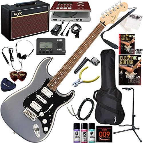 FENDER エレキギター 初心者 入門 メキシコ製 フェンダーならではのフィーリングとスタイルを持つストラト。HSH構成。 ギターの練習が楽しくなるCDトレーナー(エフェクターも内蔵)と人気のギターアンプVOX Pathfinder10が入った強力21点セット Player Stratocaster HSH/SLV/PF(シルバー/パーフェロー指板)