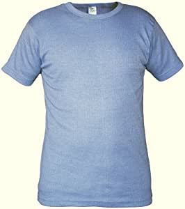 Men's Value Thermal Short Sleeve Vest Soft Fabric Self Fabric Crew Neck Top T Shirt underwear Comfortable (White, Medium)