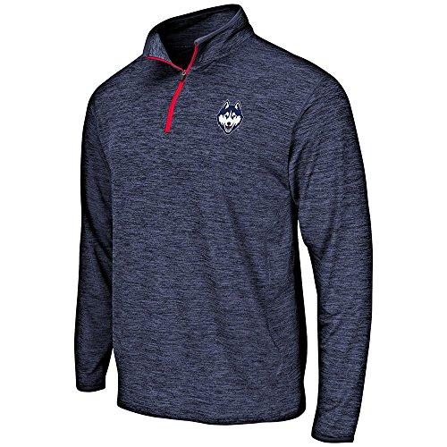 Husky Mens Basketball - Mens UConn Connecticut Huskies Quarter Zip Windbreaker Shirt - L